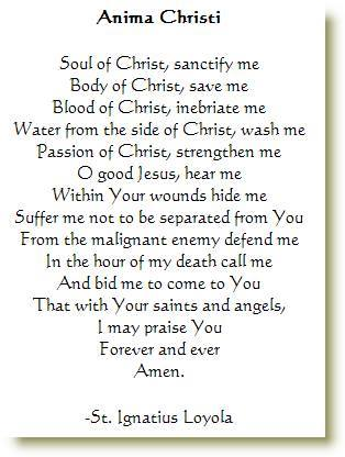 Anima Christi prayer