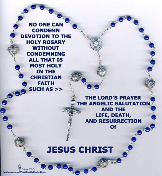 Cannot condemn the Rosary