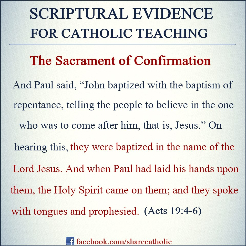 confirmation in scripture