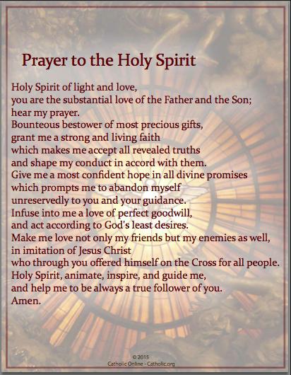 Prayer to The Holy Spirit 1